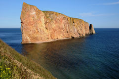 Quebec, Perce Rock in Gaspesie Stock Photos