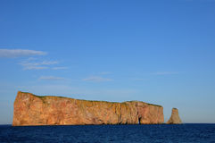 Quebec, Perce Rock in Gaspesie Stock Image