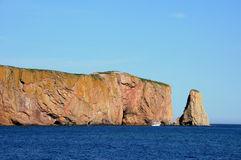 Quebec Perce Rock i Gaspesie royaltyfria foton