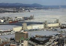 Quebec port Stock Photography