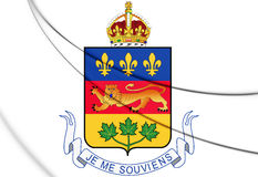 Quebec province coat of arms, Canada. Royalty Free Stock Photos