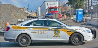 Quebec provinsiell polisbil Arkivfoto