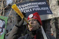 Quebec public sector strikes Stock Images
