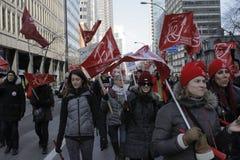 Quebec public sector strikes Stock Photos