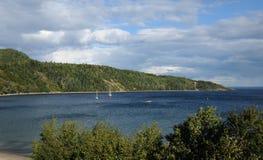 Quebec, the seaside of Tadoussac Stock Photo