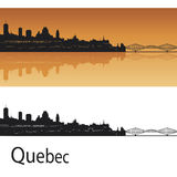 Quebec skyline. In orange background in editable vector file Royalty Free Stock Photo