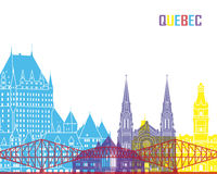 Quebec skyline pop Stock Image