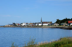 Quebec, the small village of Petit Matane royalty free stock photos
