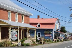Quebec, the small village of Sainte Flavie Stock Photography