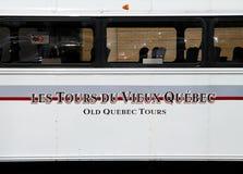 Quebec stara Wycieczka Autobusowa zdjęcia royalty free