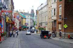 Quebec street Royalty Free Stock Images