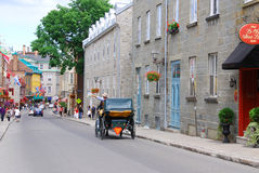 Quebec street Stock Photo