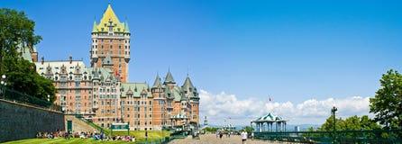 Quebec Terrasse Dufferin und Chateau Frontenac Stockbilder