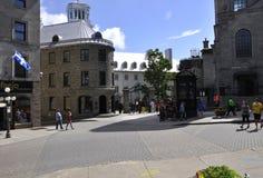 Quebec, 28th Czerwiec: Laval Ecole d ` Uniwersytecka architektura od Starego Quebec miasta w Kanada zdjęcia royalty free