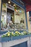 Quebec, 28th Czerwiec: Ruciana Du Champlain Okno sklepu dekoracja od Starego Quebec miasta w Kanada fotografia stock