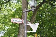 Quebec, 28th June: Street Sign from Old Quebec City in Canada stock images