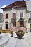 Quebec 28th Juni: Historiskt hus från stället Royale av gamla Quebec City i Kanada Arkivfoto