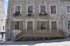 Quebec 28th Juni: Historiskt hus från stället Royale av gamla Quebec City i Kanada Royaltyfria Bilder