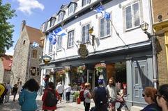 Quebec 28th Juni: Ställe Royale från gamla Quebec City i Kanada Fotografering för Bildbyråer