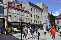 Quebec 28th Juni: Ställe Royale från gamla Quebec City i Kanada Arkivfoton