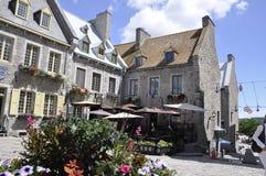 Quebec 28th Juni: Ställe Royale från gamla Quebec City i Kanada Arkivbilder