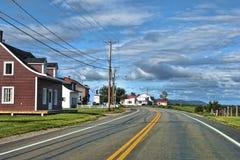Quebec väg, Kanada Arkivbild