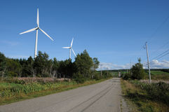 Quebec, wind generator in Cap Chat in Gaspesie Royalty Free Stock Images
