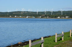 Quebec, wind generator in Cap Chat in Gaspesie Royalty Free Stock Photo