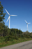 Quebec, wind generator in Cap Chat in Gaspesie Stock Photography