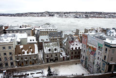 Quebec in winter Royalty Free Stock Photography