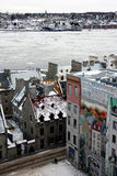Quebec in winter Stock Photography