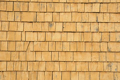 Quebec, wooden tiles on a wall of an house Royalty Free Stock Photos