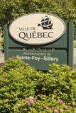Quebecs Bezirkszeichen Lizenzfreie Stockfotos