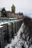 Quebeque no inverno Foto de Stock Royalty Free