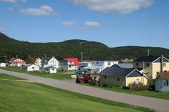 Quebeque, a vila pequena de Baie Sainte Catherine Imagens de Stock
