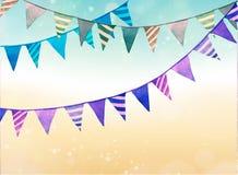 Quebra bonita o bolo, fundo genérico com textura do watercolour, decorações do partido, festões ilustração stock