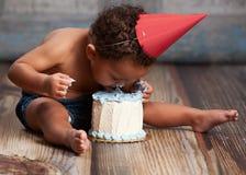 Quebra do bolo! imagens de stock
