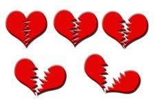 Quebra do coração Fotografia de Stock Royalty Free