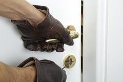 Quebra e entrar em casa Imagem de Stock Royalty Free