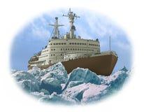 Quebra-gelo Nuclear-powered Imagem de Stock