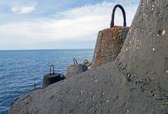Quebra-mar coberto Foto de Stock Royalty Free