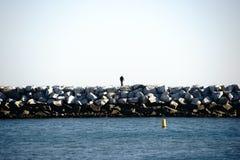 Quebra-mar Dana Point Fotografia de Stock