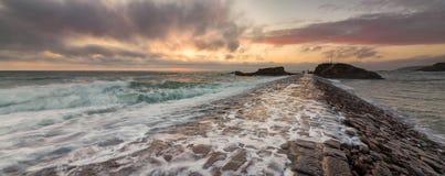 Quebra-mar de Bude Imagem de Stock Royalty Free