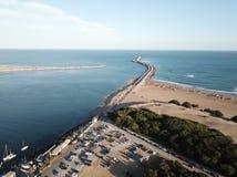 Quebra-mar de Necochea Fotos de Stock