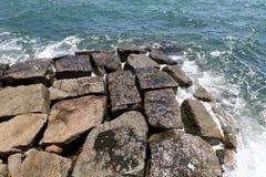 Quebra-mar de pedra Foto de Stock Royalty Free
