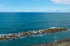 Quebra-mar de pedra imagens de stock royalty free