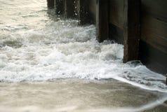 Quebra-mar do inverno Fotografia de Stock Royalty Free
