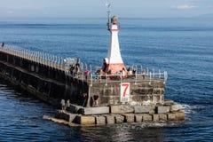 Quebra-mar do ponto de Ogden Fotografia de Stock Royalty Free