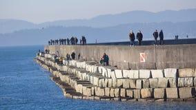 Quebra-mar do ponto de Victoria Ogden cerca da primavera de adiantada 2011: Vista o Fotos de Stock Royalty Free