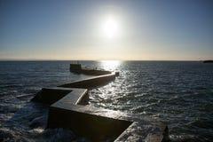 Quebra-mar em St Monans Imagem de Stock